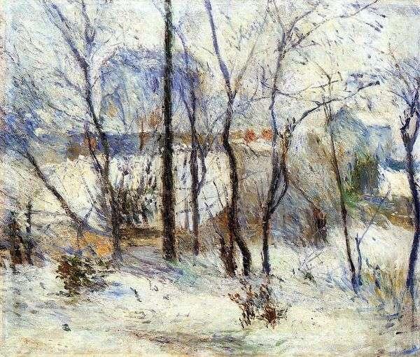 雪の中の庭   Paul Gauguin