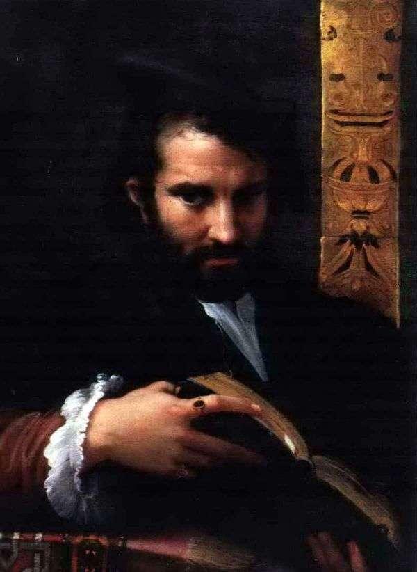 本を持つ男   Francesco Parmigianino