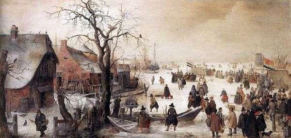 冬のチャンネル   Hendrick Averkamp