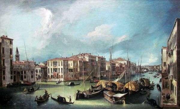 大運河:リアルト橋   Antonio Canalettoの北東を見る