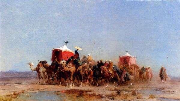 砂漠のキャラバン   アルベルト・パシーニ