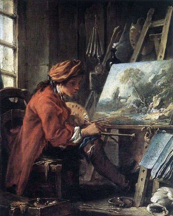 彼のワークショップのアーティスト   Francois Boucher