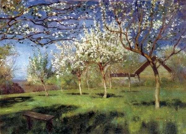 開花リンゴの木   アイザックレビタン