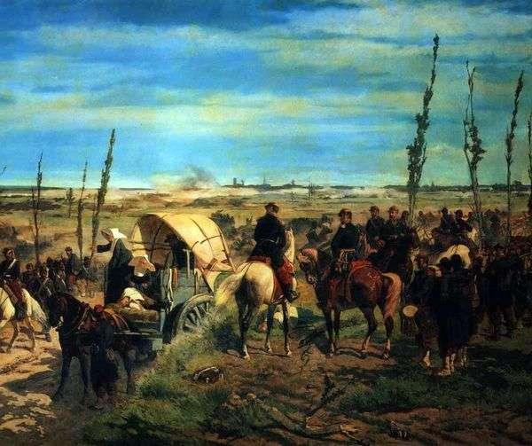 マゼンタの戦い   Giovanni Fattoriでのイタリアのキャンプ