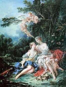 木星とカリスト   フランソワ・ブーシェ