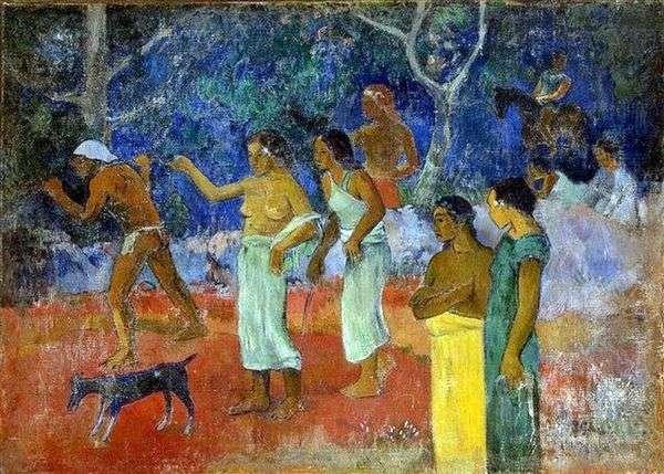 Tahitian Lifeのシーン   Paul Gauguin