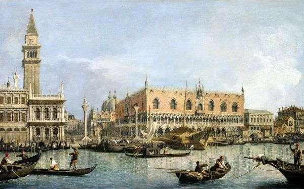 ヴェネツィア   アントニオ・カナレットのドゥカーレ宮殿の眺め