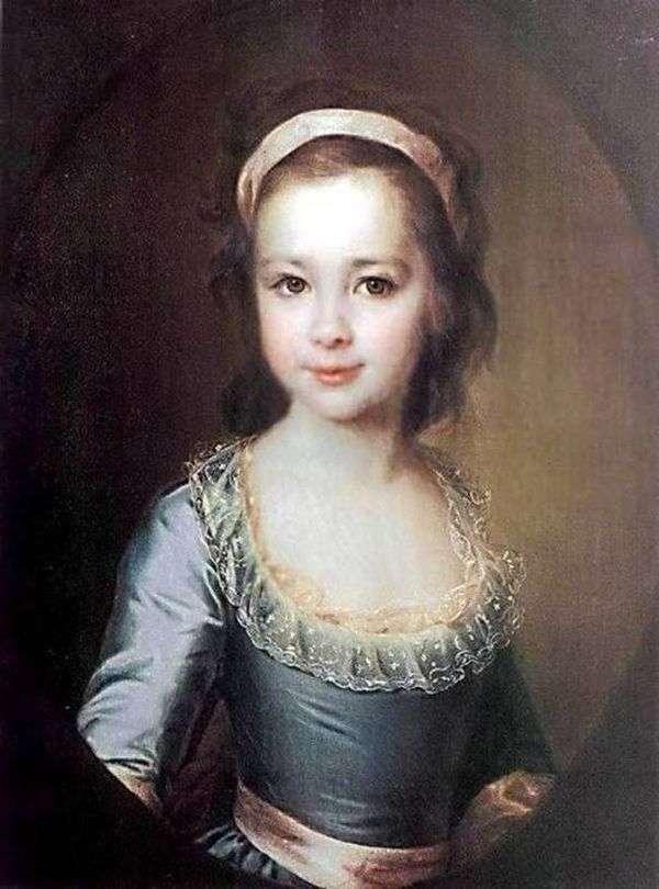 子供としてのA. A. Vorontsovaの肖像   Dmitry Levitsky