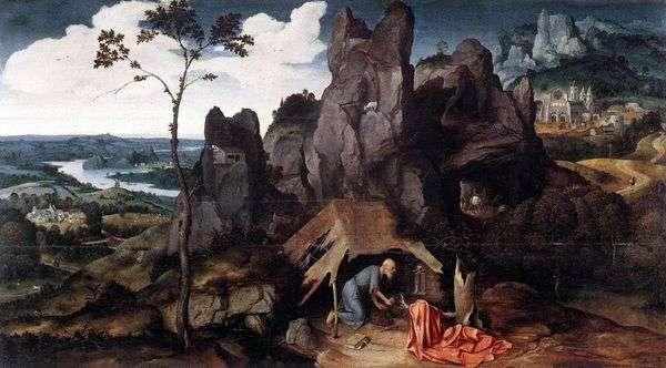 荒野の聖ジェローム   Joachim Patinir