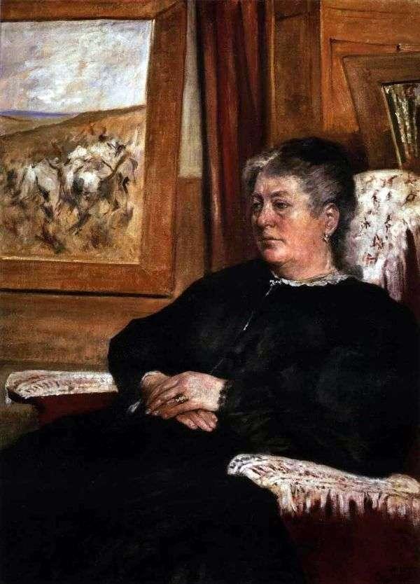 妻の肖像   Giovanni Fattori