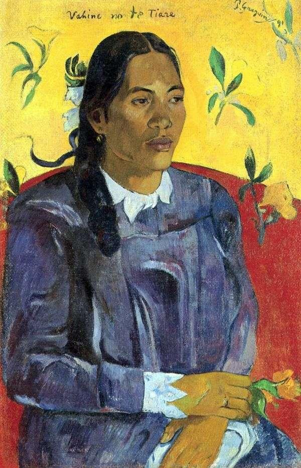 花を持つタヒチ女   Paul Gauguin
