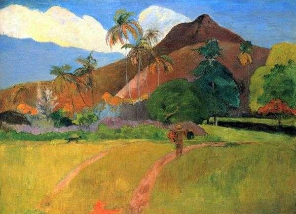 タヒチの山   Paul Gauguin