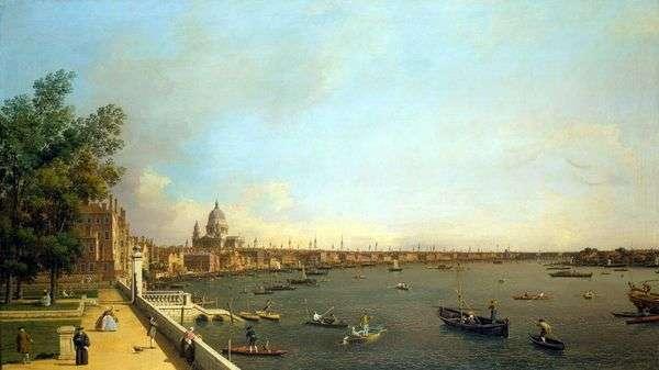 サマセットハウス   アントニオ・カナレットからテムズ川とロンドンの眺め