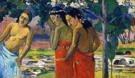 Three Tahitians   ポールゴーギャン
