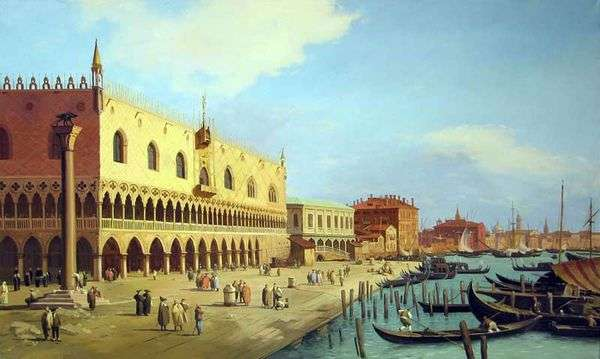 ドゥカーレ宮殿とスキアボニプロムナード   Antonio Canaletto