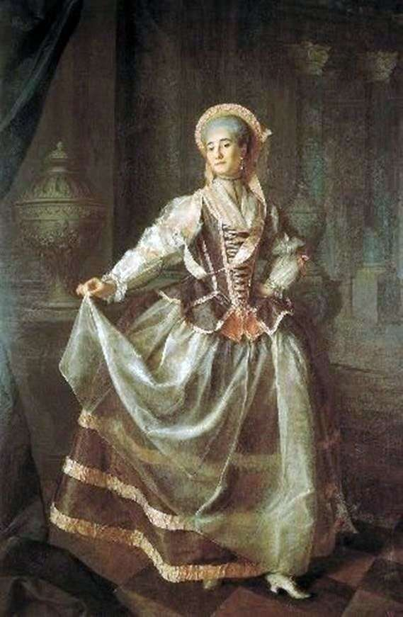 アレクサンドラLevshina   ドミトリーLevitskyの貴族の帝国の帝国教育協会の学生の肖像画