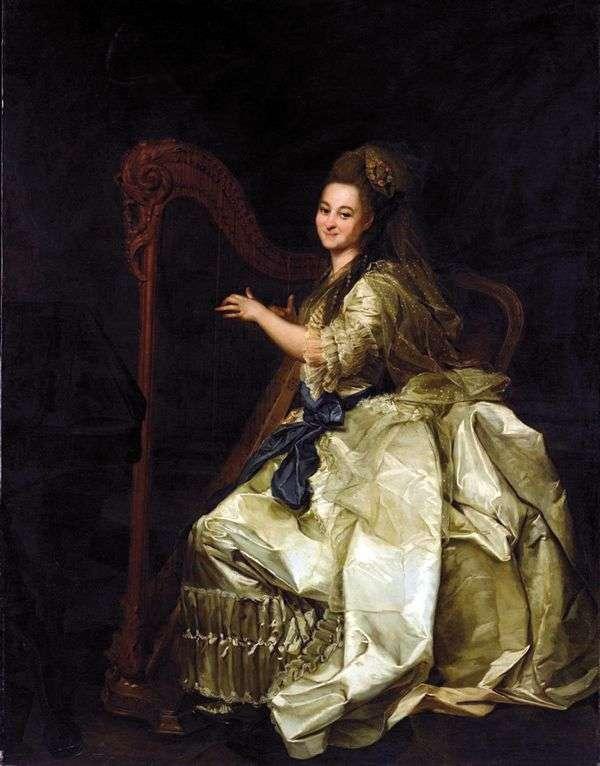Glafira Ivanovna Alymova   Dmitry Levitskyの肖像画