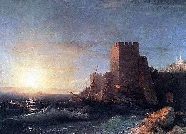 ボスポラス海峡   イワンAivazovskyの岩の上の塔します。
