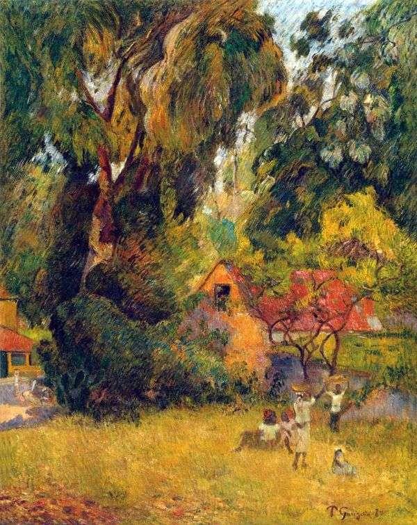 木の下の小屋   Paul Gauguin