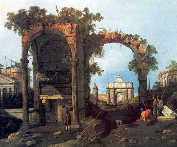 古典的な遺跡のカプリッチョ   Antonio Canaletto
