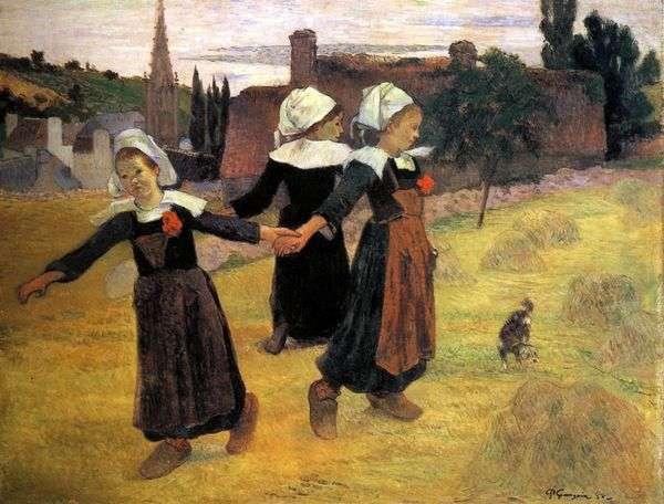 リトルブレトンのラウンドダンス   Paul Gauguin