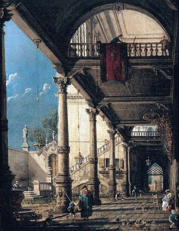 コロネードとカプリッチョ   Antonio Canaletto