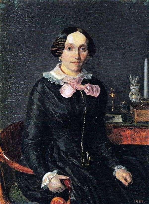 Alexandra Petrovna Zhdanovich   パベル・フェドトフの肖像