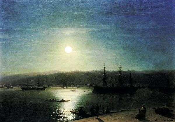 月夜のボスポラス海峡   Ivan Aivazovsky