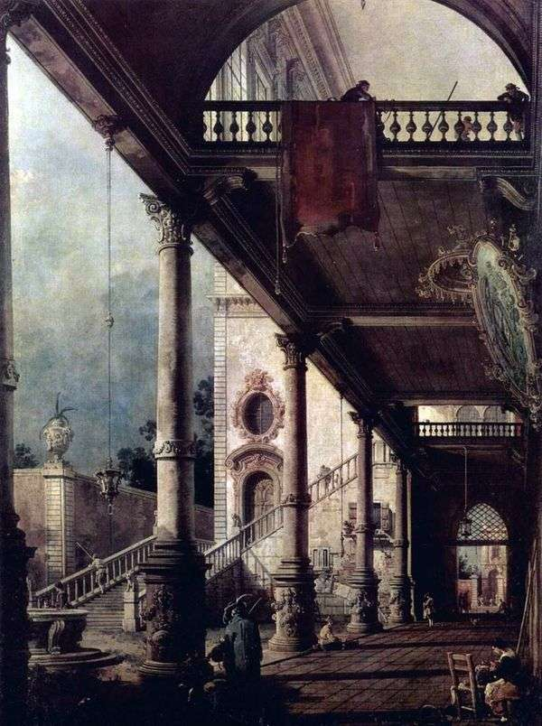 Portico Perspective   アントニオ・カナレット