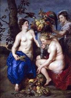 セレスと二匹のニンフ   Peter Rubens
