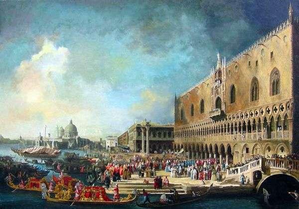 ヴェネツィアのフランス大使レセプション   Antonio Canaletto