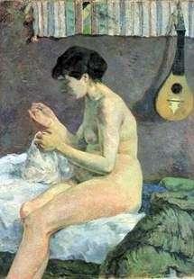 縫製女   Paul Gauguin