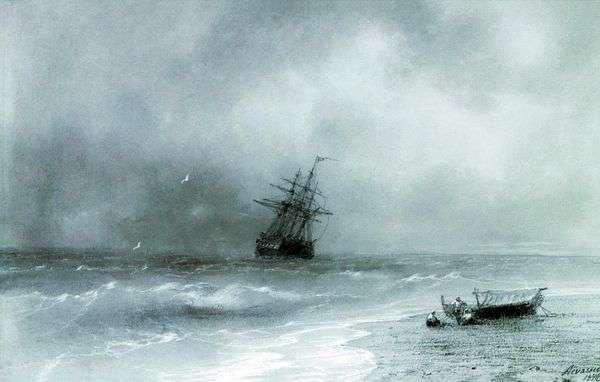 嵐の海   イワンAivazovsky