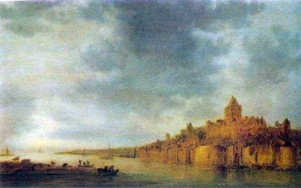 ナイメーヘン   Jan van Goyenでワール川の眺め