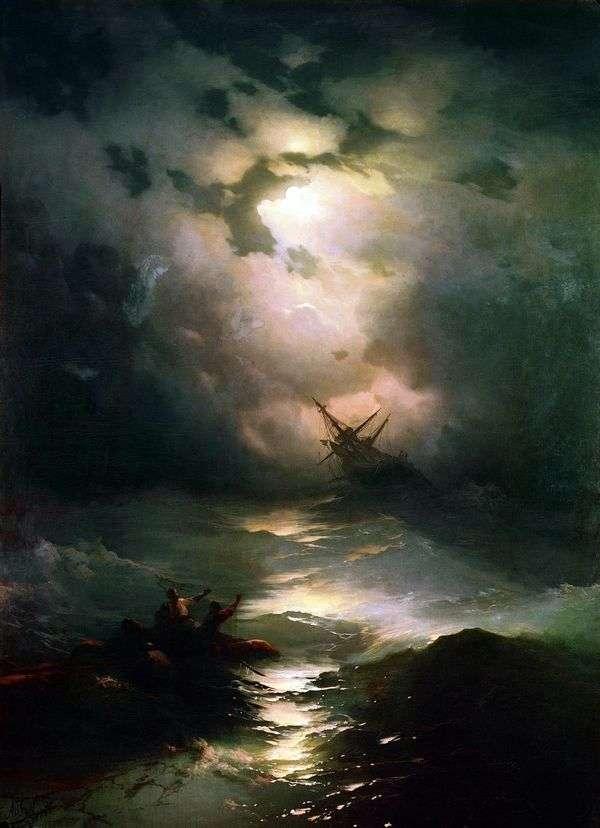 北海の嵐   イワン・アイヴァゾフスキー