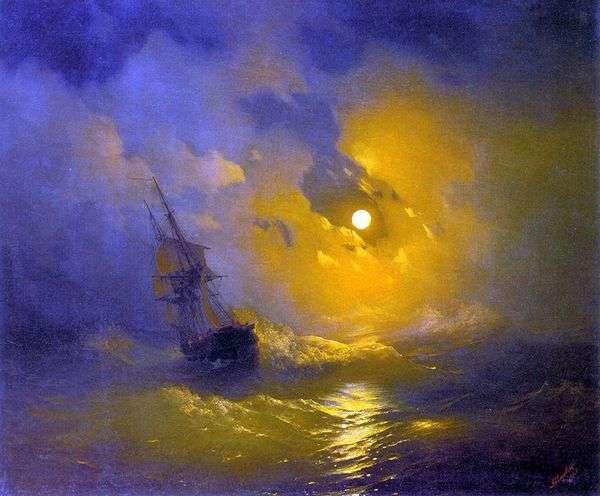 夜の海の上の嵐   Ivan Aivazovsky