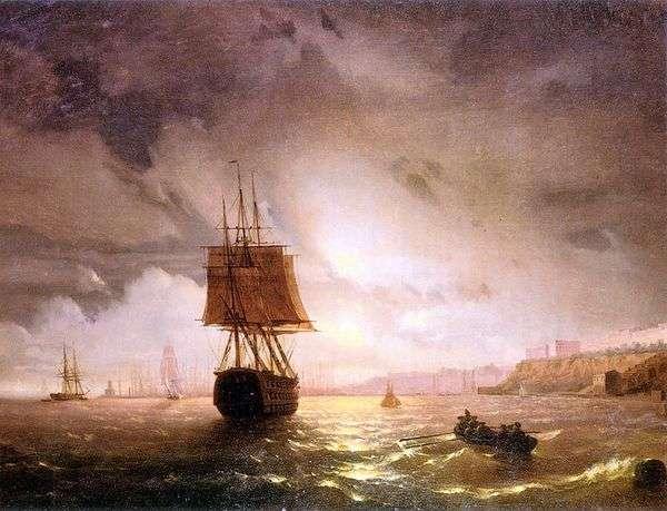 黒海、オデッサのベイ   Ivan Aivazovsky