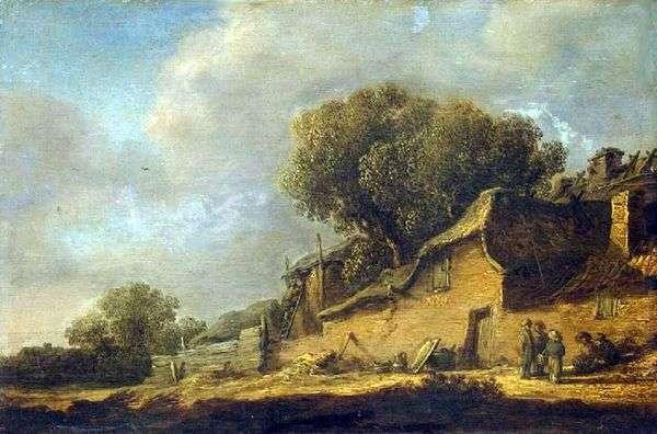 農民の小屋のある風景   Jan van Goyen