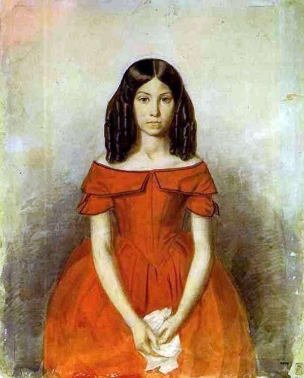 幼年期   パベル・フェドトフのN. P. Zhdanovichの肖像画