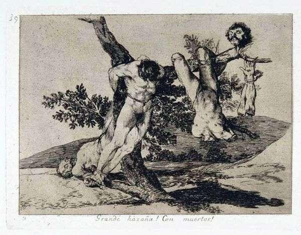 戦争の災害   Francisco de Goya