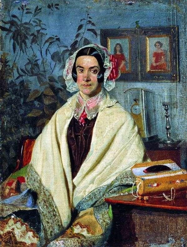 オルガPetrovna Zhdanovich、旧姓Chernysheva   Pavel Fedotovの肖像画