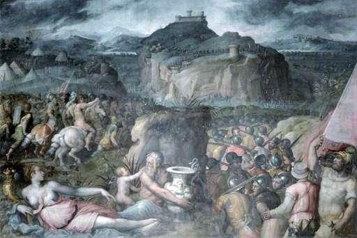 サンレオの包囲   Giorgio Vasari