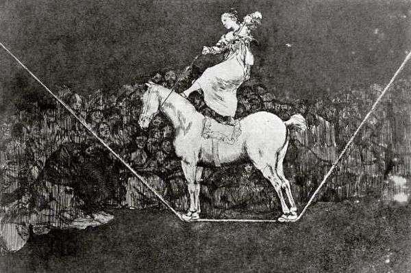 彫刻 Caprichos Dissparates(ナンセンス)   Francisco de Goya