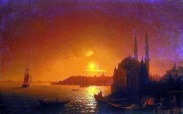 月明かり   Ivan Aivazovskyとコンスタンティノープルのビュー