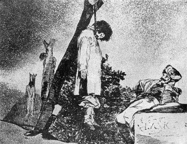 彫刻「Caprichos」(気まぐれ)「戦争の恐怖」   Francisco de Goya