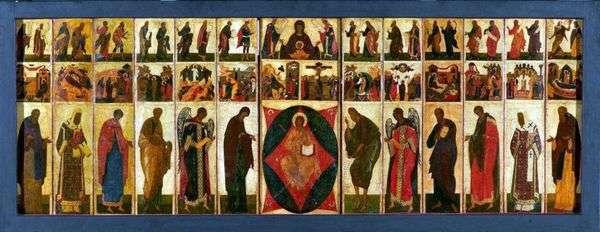 ウラジミール=チンのお祭り   アンドレイ・ルブレフの被昇天大聖堂のイコノスタス