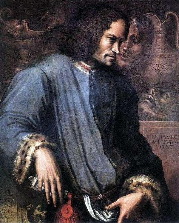壮大なロレンツォの肖像   Giorgio Vasari