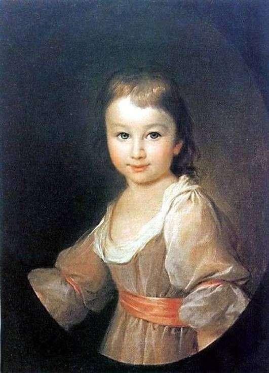 Praskovya Vorontsova   Dmitry Levitskyの肖像画