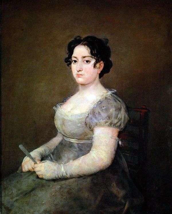 ファンを持つ女性   Francisco de Goya