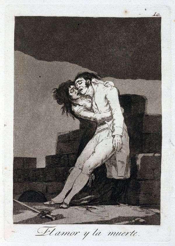 愛と死   Francisco de Goya